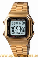 Casio A178WGA 2519 acier doré montre vintage collection