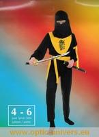 ninja jaune  4/6 ans  Deguisement costume