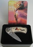 Couteau en coffret decor Pin up