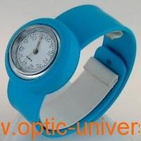 Montre Femme bracelet Clic Clac Softouch Dia 2,8cm bleu