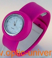 Montre Femme bracelet Clic Clac Softouch Dia 2,8cm fushia