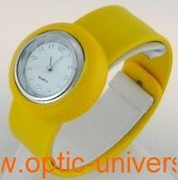 Montre Femme bracelet Clic Clac Softouch Dia 2,8cm jaune