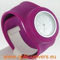Montre Femme bracelet Clic Clac Softouch Dia 4 cm lilas
