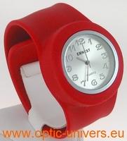 Montre Femme bracelet Clic Clac Softouch Dia 4 cm rouge