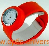 Montre Femme bracelet Clic Clac Softouch Dia 4 cm orange