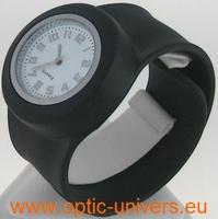 Montre Femme bracelet Clic Clac Softouch Dia 4 cm noire
