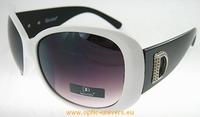 Lunette de soleil Dugo 7144 blanc noir
