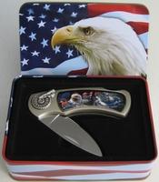 Couteau en coffret decor Aigle USA