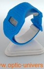 Montre extra plate funny color water resist bleu