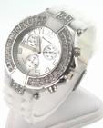 Montre femme silicone blanc strass  ALBERTO FIORO watch