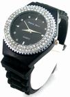 Montre femme silicone noir strass  ALBERTO FIORO watch