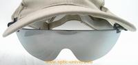Lunette de soleil adaptable sur casquette et relevable